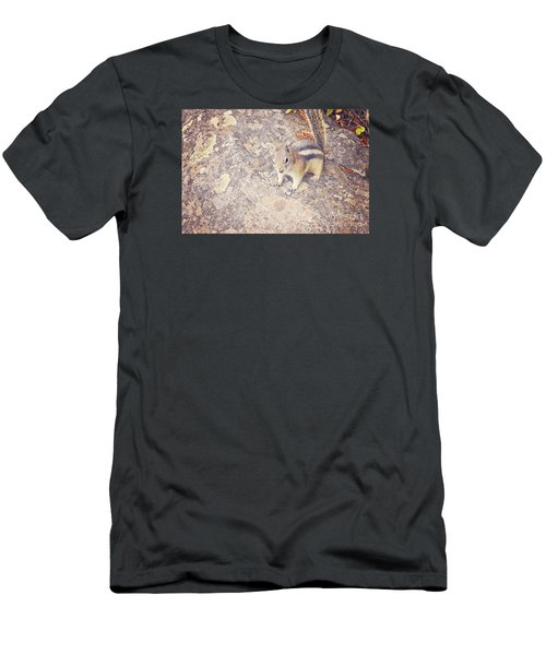 Men's T-Shirt (Slim Fit) featuring the photograph Alvin The Chipmunk by Janie Johnson