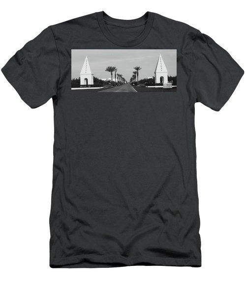 Alys Beach Entrance Men's T-Shirt (Slim Fit) by Megan Cohen