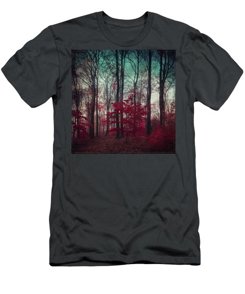 A.maze - Enchanted Red Forest Men's T-Shirt (Athletic Fit)