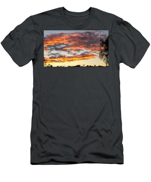 Clouds On Fire Men's T-Shirt (Athletic Fit)