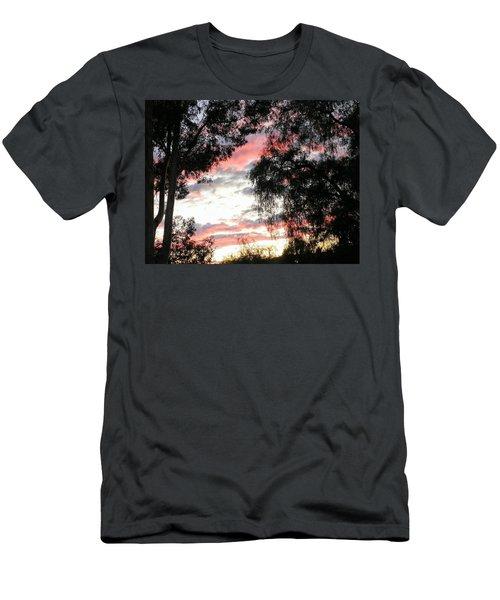 Amazing Clouds Black Trees Men's T-Shirt (Athletic Fit)