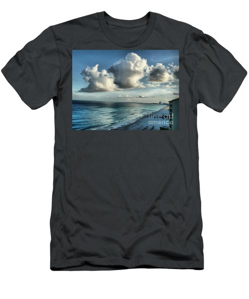 Men's T-Shirt (Slim Fit) featuring the photograph Amazing Clouds by Polly Peacock