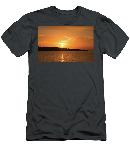 Dawn In Ibiza, Spain Men's T-Shirt (Athletic Fit)