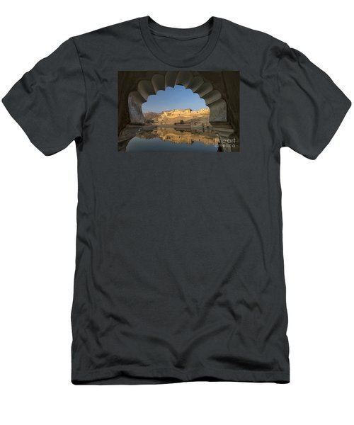 Men's T-Shirt (Athletic Fit) featuring the photograph Amber Fort Reflection by Yew Kwang