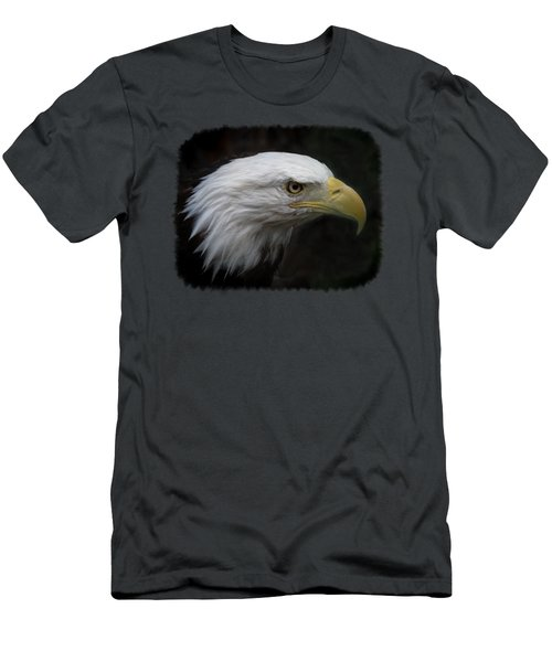 Men's T-Shirt (Slim Fit) featuring the photograph American Bald Eagle by Ernie Echols