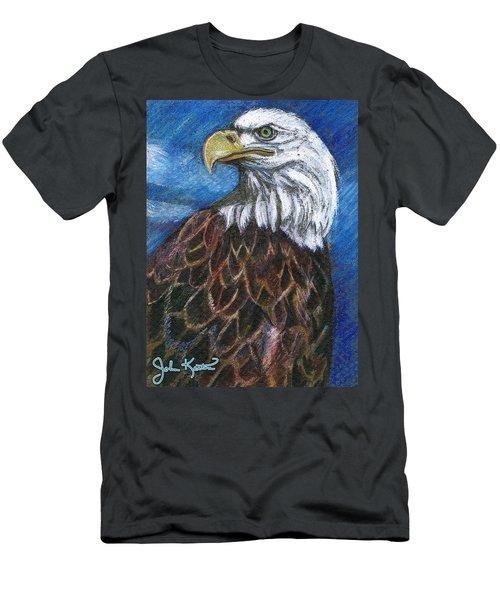 American Bald Eagle Men's T-Shirt (Slim Fit) by John Keaton