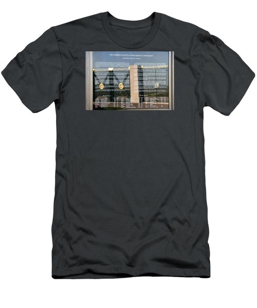 Men's T-Shirt (Slim Fit) featuring the photograph American Battle Monuments Commission by Travel Pics