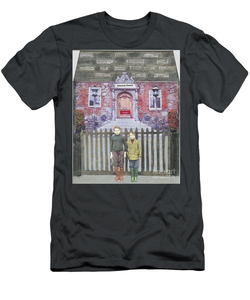 Men's T-Shirt (Slim Fit) featuring the mixed media American Dreams by Desiree Paquette