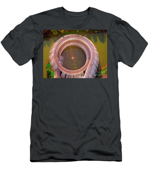 Men's T-Shirt (Slim Fit) featuring the photograph American Eagle Roller Coaster  by Tom Jelen