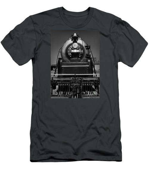 Men's T-Shirt (Slim Fit) featuring the photograph American Freedom Train #1 by Martin Konopacki