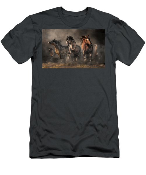 American Paint Horses Men's T-Shirt (Athletic Fit)