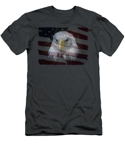 Men's T-Shirt (Slim Fit) featuring the photograph American Pride 2 by Ernie Echols