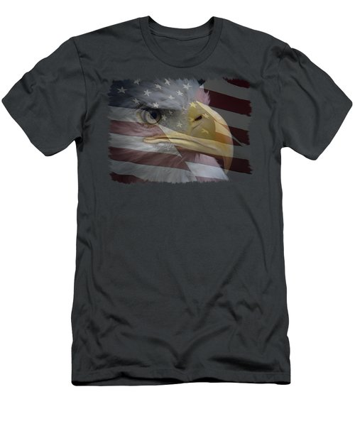 Men's T-Shirt (Slim Fit) featuring the photograph American Pride 3 by Ernie Echols