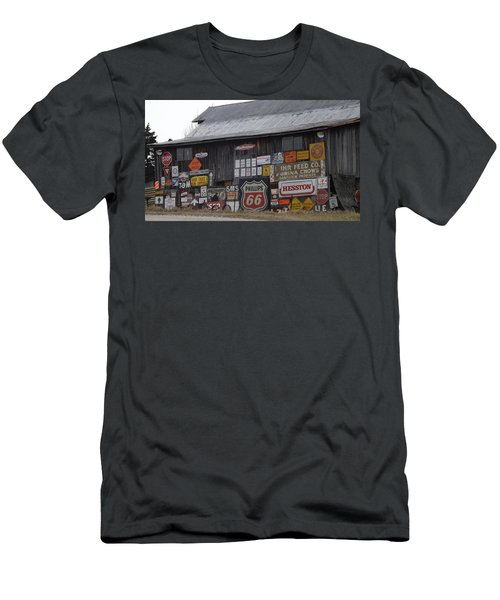 Americana Signs Men's T-Shirt (Slim Fit) by Don Koester