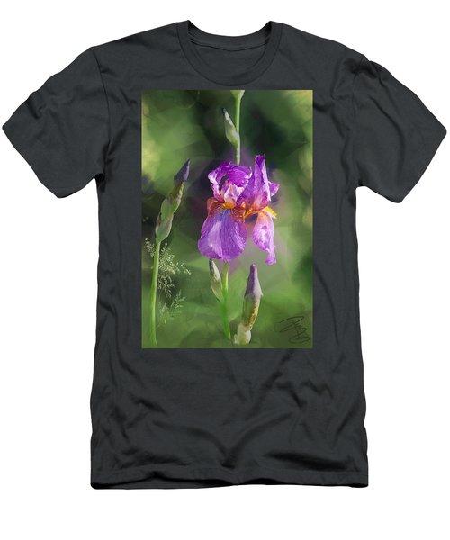 Amethyst Iris 2 Men's T-Shirt (Athletic Fit)
