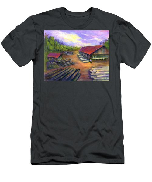 Amish Lumbermill Men's T-Shirt (Slim Fit) by Gail Kirtz
