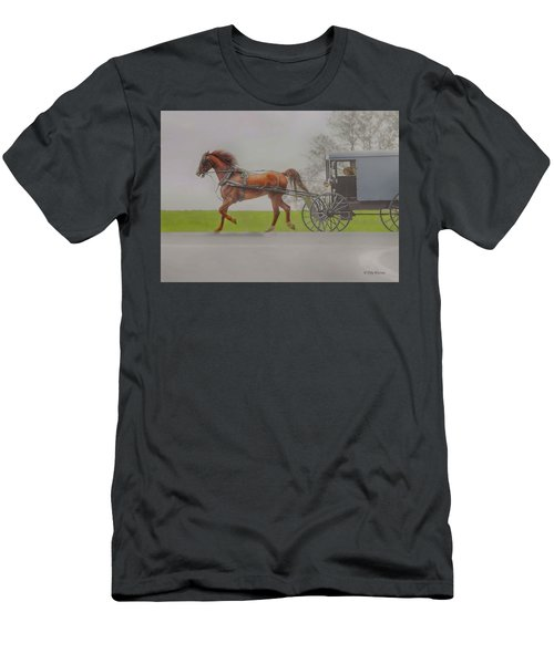 Amish Sunday Ride Men's T-Shirt (Athletic Fit)