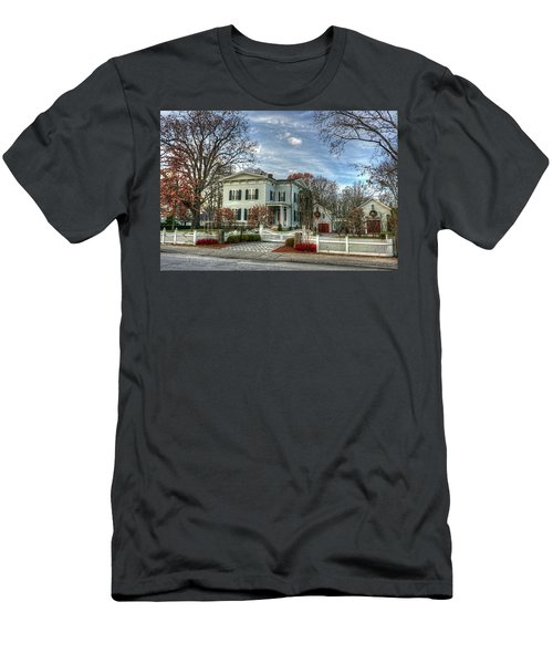 Amos Tuck House In Late Autumn Men's T-Shirt (Athletic Fit)