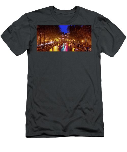 Amsterdam By Night Men's T-Shirt (Athletic Fit)