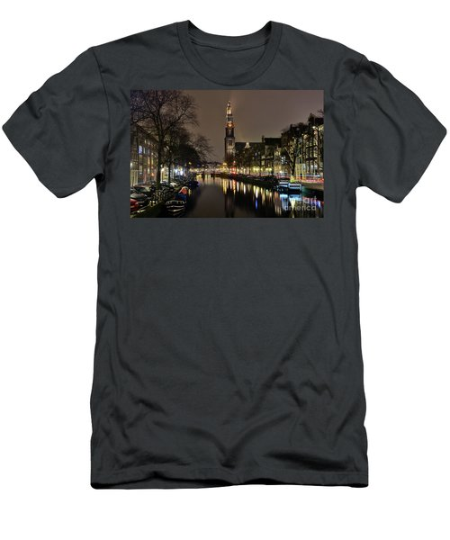 Amsterdam By Night - Prinsengracht Men's T-Shirt (Athletic Fit)