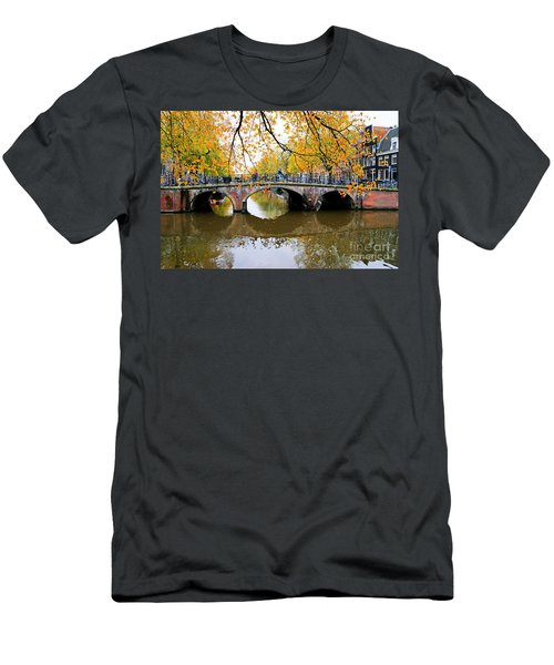 Amsterdam Canal Reflections Men's T-Shirt (Athletic Fit)