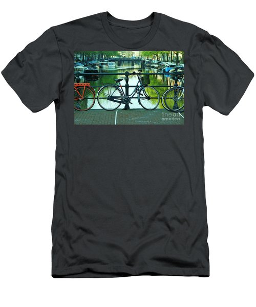Men's T-Shirt (Slim Fit) featuring the photograph Amsterdam Scene by Allen Beatty