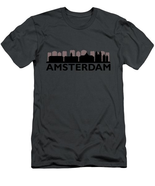 Amsterdam Skyline Men's T-Shirt (Athletic Fit)