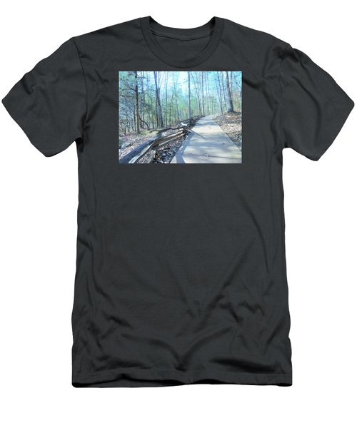 An Autumn Walk In The Woods Men's T-Shirt (Slim Fit) by Kay Gilley