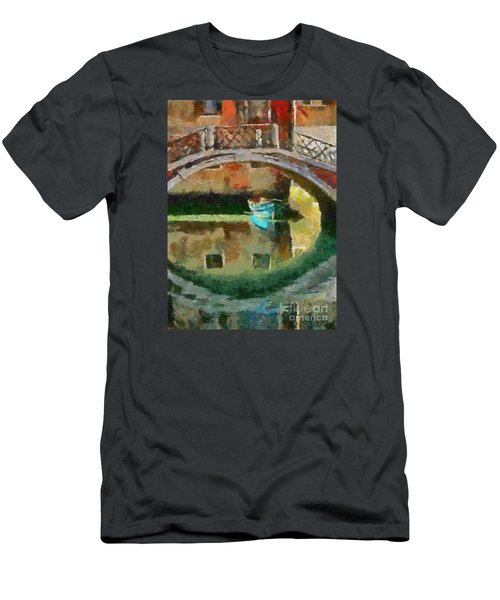 An Early Morning In Venice Men's T-Shirt (Slim Fit) by Dragica  Micki Fortuna