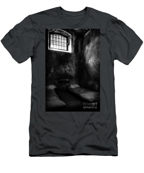 Men's T-Shirt (Slim Fit) featuring the photograph An Empty Cell In Old Cork City Gaol by RicardMN Photography