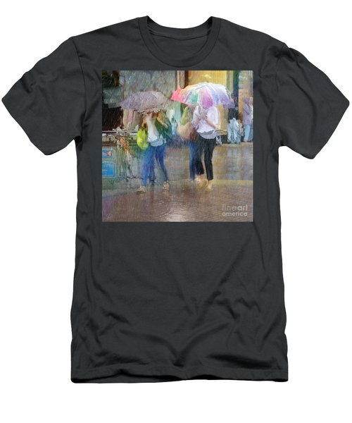 Men's T-Shirt (Athletic Fit) featuring the photograph An Odd Sharp Shower by LemonArt Photography
