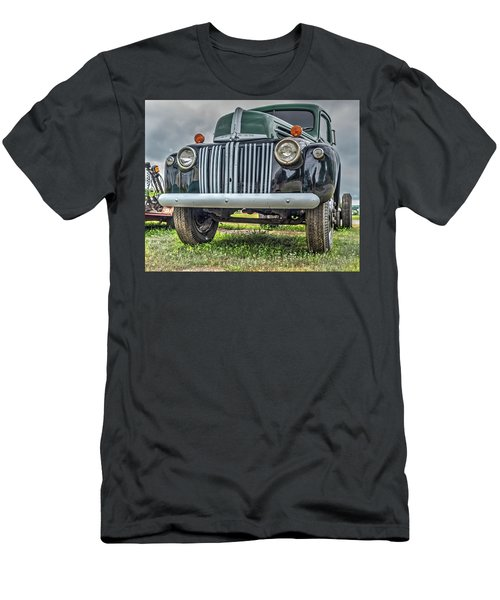 Men's T-Shirt (Athletic Fit) featuring the photograph An Old Green Ford Truck by Guy Whiteley