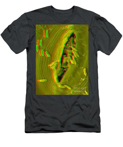 Anaglyph Of Infected Lettuce Leaf Men's T-Shirt (Athletic Fit)