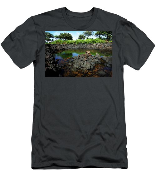 Men's T-Shirt (Slim Fit) featuring the photograph Anchialine Pond by Anthony Jones
