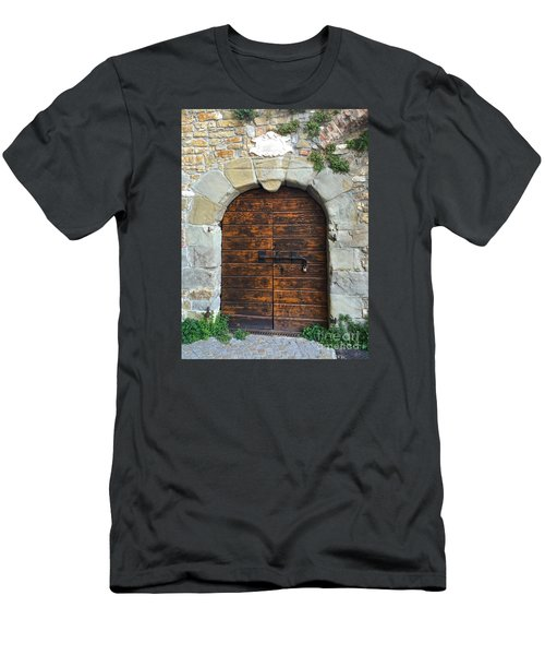 Ancient Castle Castel Door Trieste Men's T-Shirt (Athletic Fit)