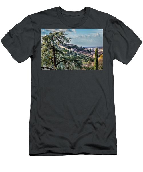 Ancient Walls Of Florence Men's T-Shirt (Slim Fit) by Sonny Marcyan