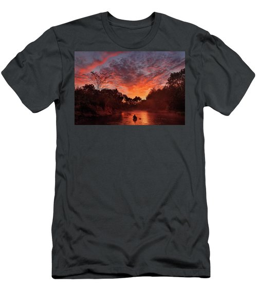 And The Day Begins Men's T-Shirt (Slim Fit) by Robert Charity