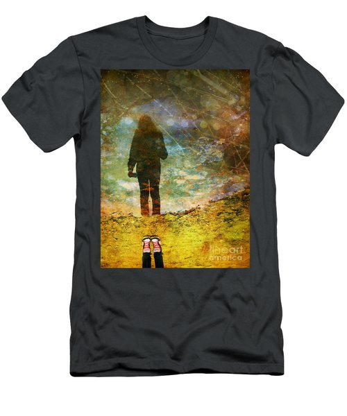 And Then He Turned Her World Upside Down Men's T-Shirt (Athletic Fit)