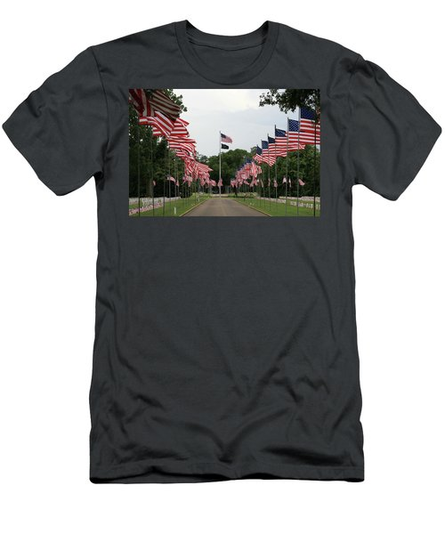 Men's T-Shirt (Slim Fit) featuring the photograph Andersonville National Cemetery by Jerry Battle