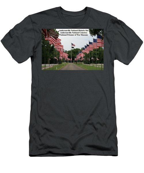 Andersonville National Park Men's T-Shirt (Slim Fit) by Jerry Battle