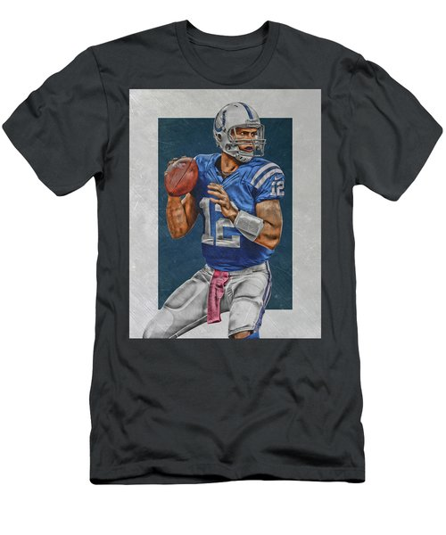 Andrew Luck Indianapolis Colts Art Men's T-Shirt (Athletic Fit)
