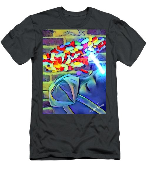Anesthetized  Men's T-Shirt (Slim Fit) by Vennie Kocsis