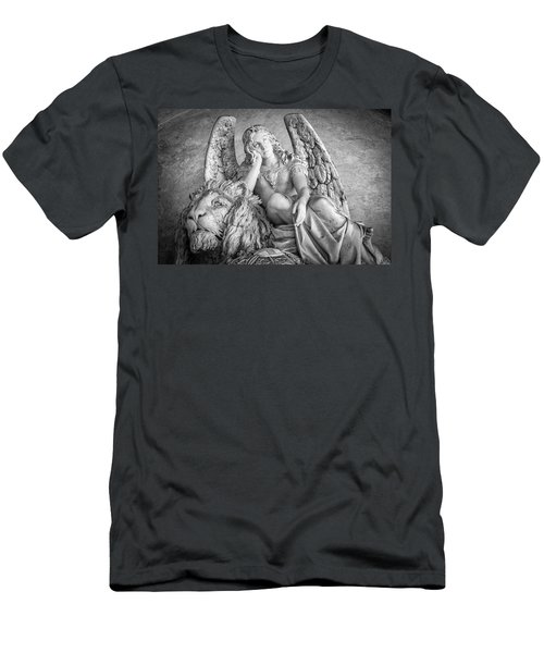 Angel And Lion Men's T-Shirt (Slim Fit) by Sonny Marcyan