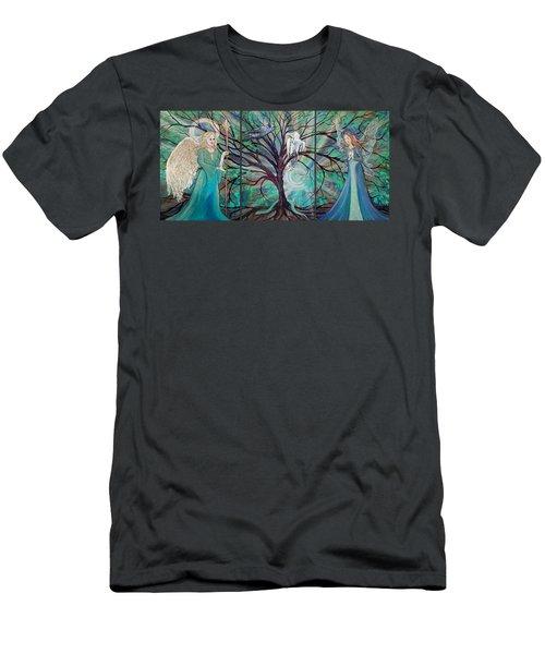 Angel Faery Triptech Men's T-Shirt (Athletic Fit)