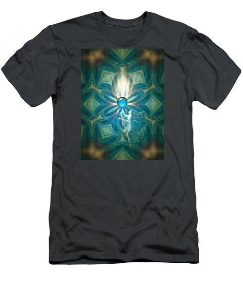 Angel Globe Men's T-Shirt (Slim Fit) by Mario Carini