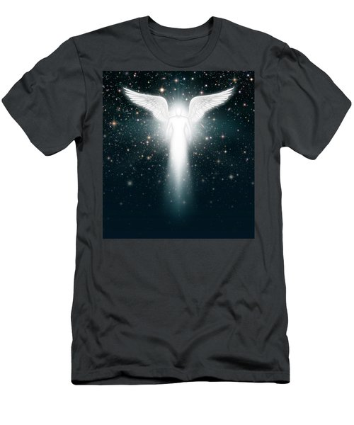 Angel In The Night Sky Men's T-Shirt (Athletic Fit)