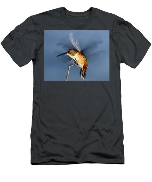 Angel Morphing Into A Hummingbird Men's T-Shirt (Athletic Fit)