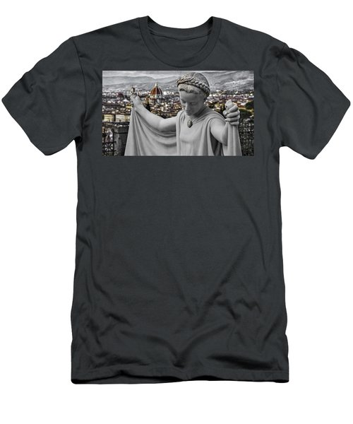 Men's T-Shirt (Slim Fit) featuring the photograph Angel Of Florence by Sonny Marcyan