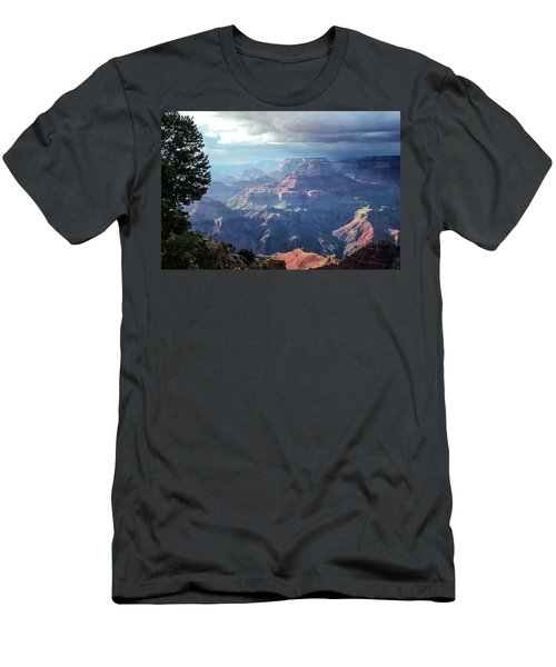 Angel S Gate And Wotan S Throne Grand Canyon National Park Men's T-Shirt (Athletic Fit)