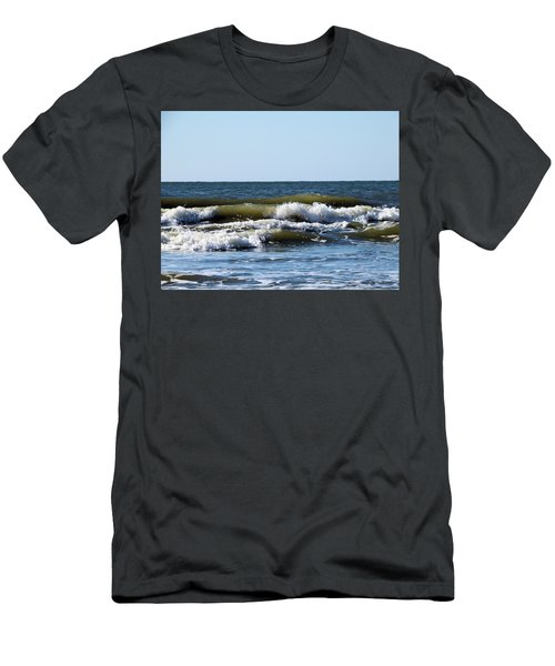 Angry Sea Men's T-Shirt (Slim Fit) by Cathy Harper